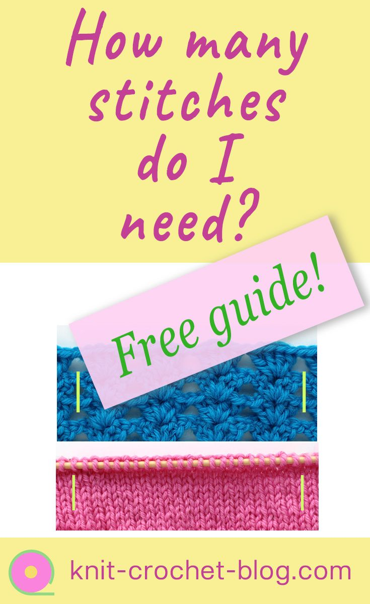 You find a great stitch pattern but don't know how many stitches you need. Guide for learning to calculate stitches for crochet and knitting projects. Download free guide.