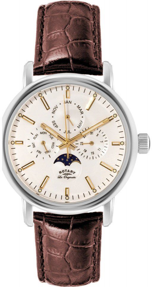 Rotary Watch Les Originales Gents #add-content #bezel-fixed #bracelet-strap-leather #brand-rotary #case-material-steel #case-width-40mm #classic #date-yes #day-yes #delivery-timescale-1-2-weeks #dial-colour-white #gender-mens #moon-phase-yes #movement-quartz-battery #official-stockist-for-rotary-watches #packaging-rotary-watch-packaging #perpetual-calendar-yes #style-dress #subcat-les-originales #supplier-model-no-gs90135-32 #warranty-rotary-official-lifetime-guarantee…
