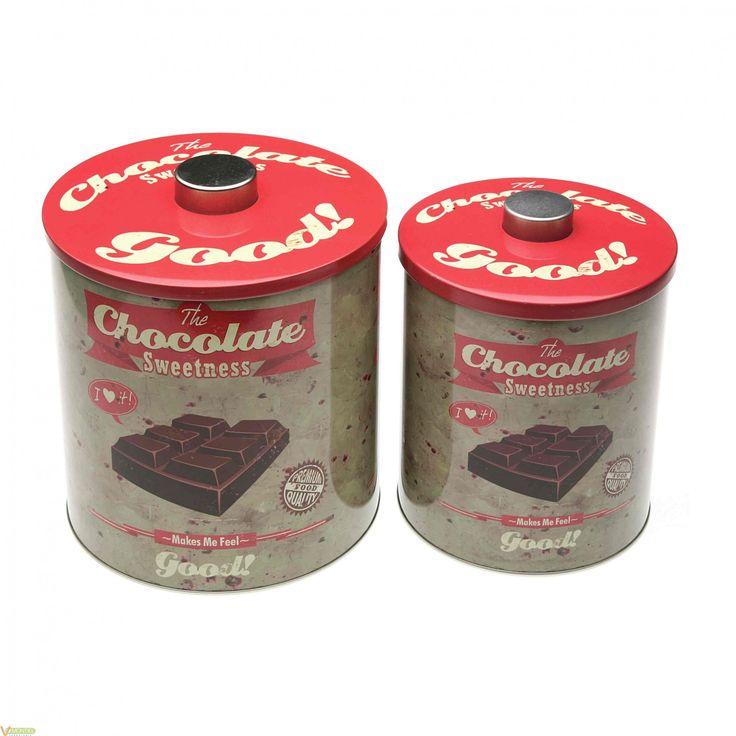 Bote cocina metálico chocolate Versa #utilescocina #botes