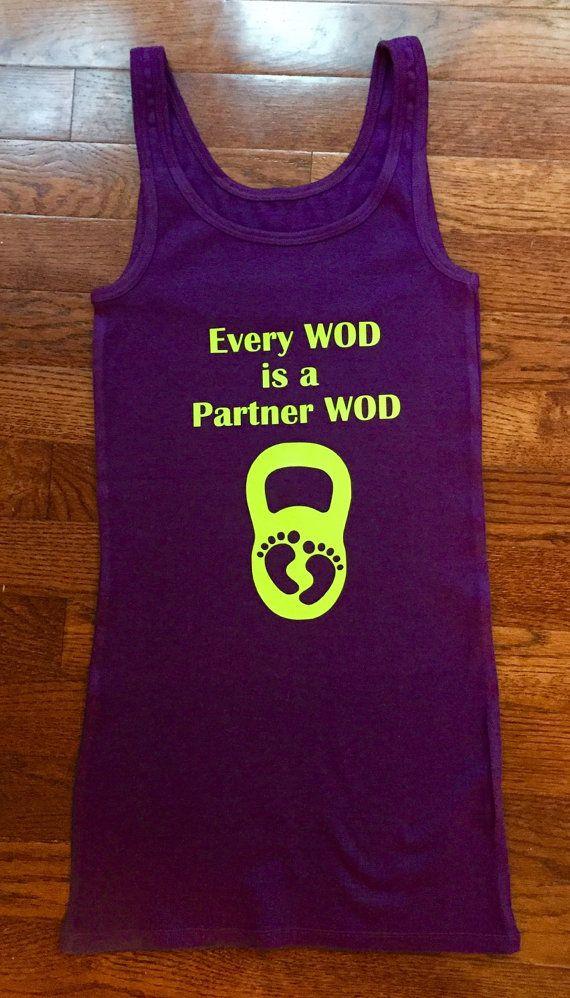 Crossfit Tank Top / Crossfit Shirt / Funny Pregnancy Announcement Shirt / Crossfit Baby / Crossfit Mom / Pregnancy Reveal / Partner WOD
