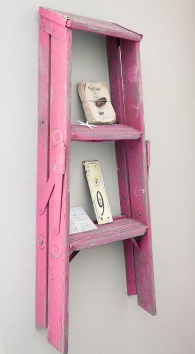 pink ladder for display