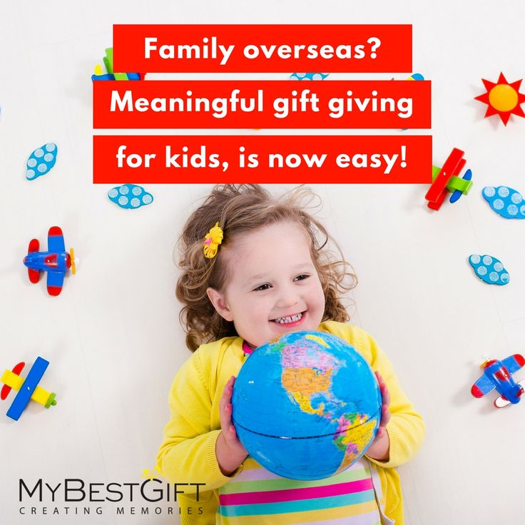 Do you have family or friends overseas? It can be tricky to choose meaningful gifts for kids from afar. Now there's a solution, with MyBestGift. http://bit.ly/2aFqBhX