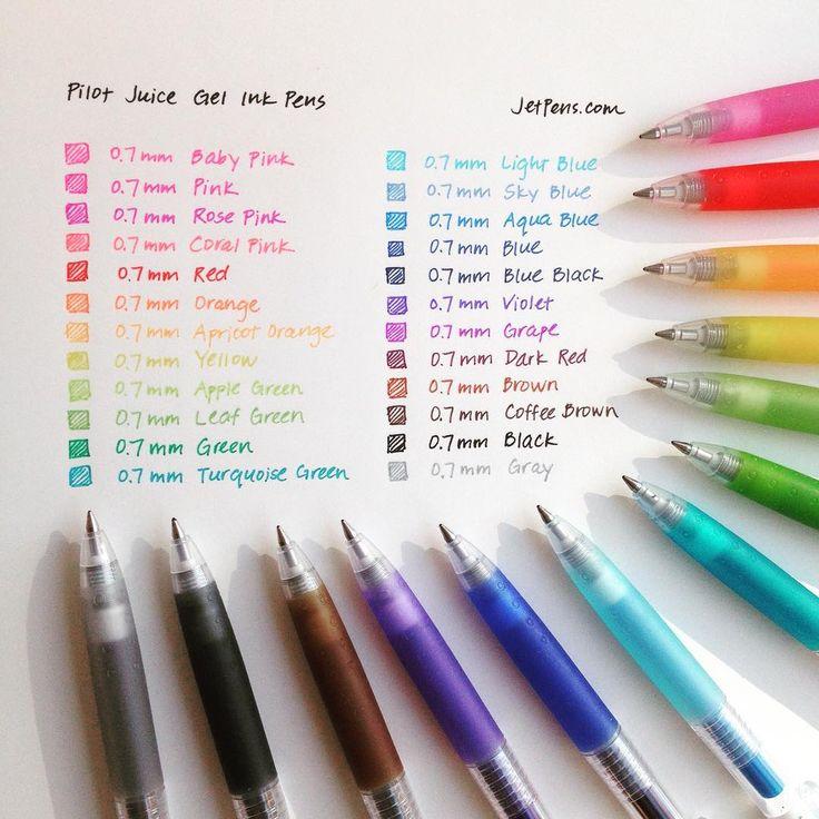 All those pretty colors! #pilot #juice #gelpen #07 #writingsamplewed http://to.jetpens.com/173jN9o