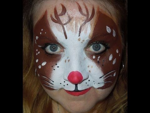 Rudolph the Red-Nosed Reindeer Face Painting - Step by Step... : Chicago Face Painting