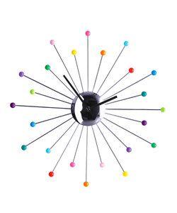 Multicoloured clock ~ Zulily.co.uk