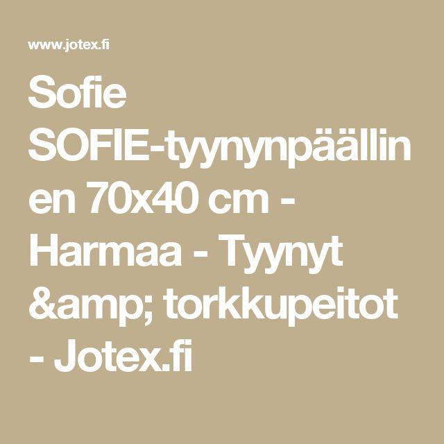 Sofie SOFIE-tyynynpäällinen 70x40 cm - Harmaa - Tyynyt & torkkupeitot - Jotex.fi