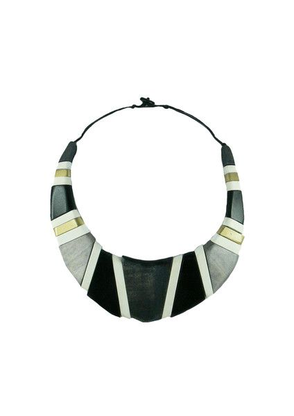 Geo Bib Necklace - Grey $59.95 This stunning statement necklace will be sure to turn heads. This necklace features rows of painted wooden beads, and sits just on your collar bone. This piece is lightweight, statement and is so easy to wear. Don't miss out on this little treasure this summer!  #leethalfashion #accessories