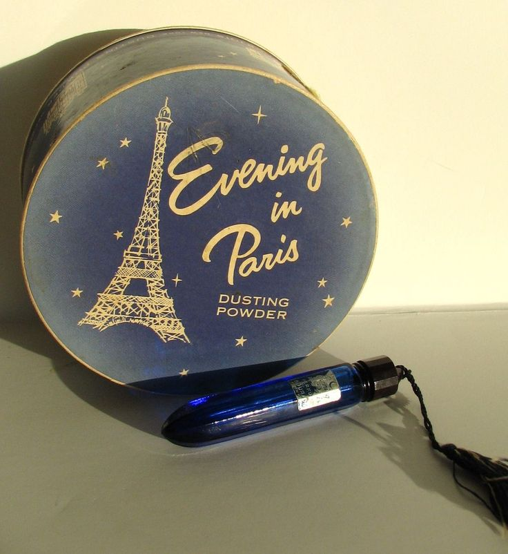 Evening in Paris Powder Perfume Flacon  Graceful Antiques Exclusive to Ruby Lane