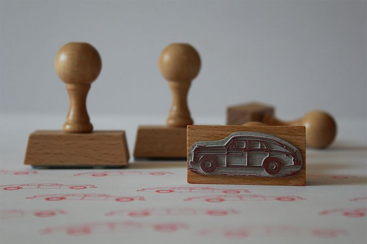 Wooden stamps from Malu Studio #oldcars #rubberstamp #wood #art #design #cars #man #kids #paper #scrapbooking #fun #creative #pattern