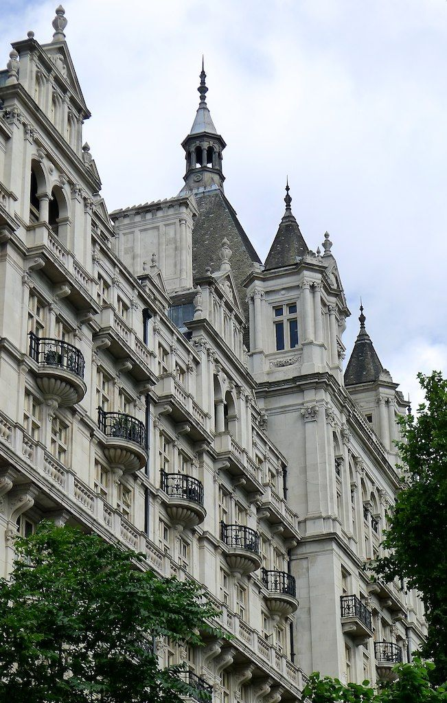 The Royal Horseguards Hotel in Whitehall Court, and Whitehall Court, I tell you truly, is one of the unsung glories of London.