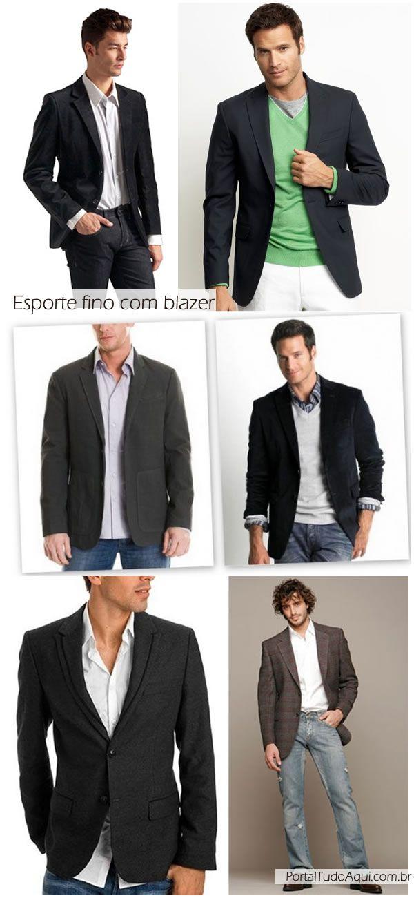 Roupa masculina com blazer