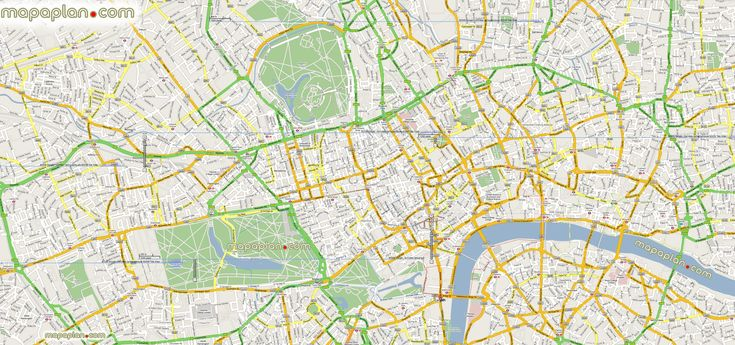 google maps offline mashup prints London top tourist attractions – London Travel Maps