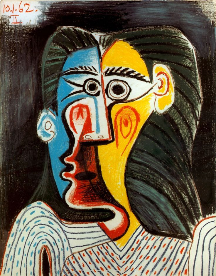 Face of Woman Pablo Picasso, 1962 #picasso #art ❌ART : PABLO PICASSO ( 1881 - 1973 ) SPANISH PAINTER AND SCULPTOR / CUBISM : More At FOSTERGINGER At Pinterest ❇️✳️⭕️