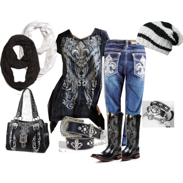 """Plus size cowgirl"" by tristiking on Polyvore"