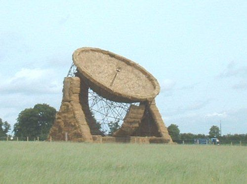 satellite dishes....:  Megalith Structure, Bale Art, Big Bale, Farms Boys, Farms Art, Farms Fresh, Farms Kids, Hay Bale, There Art