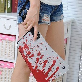Bloody Knife Shape Punk Evening Cocktail Fashion GEEK Bag Purse Wallet Handbag