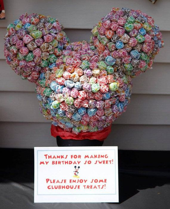 Mickey Mouse Head Lollipop Sculpture by ALYParties on Etsy