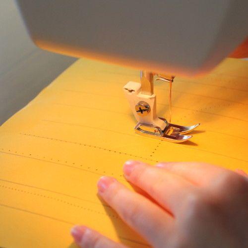 beginner sewing on paper