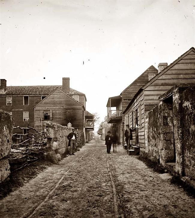 Old St. Augustine Florida during the Civil War.