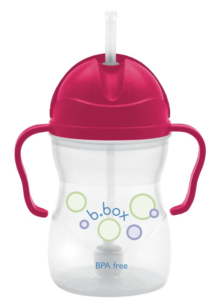 sippy cup - raspberry