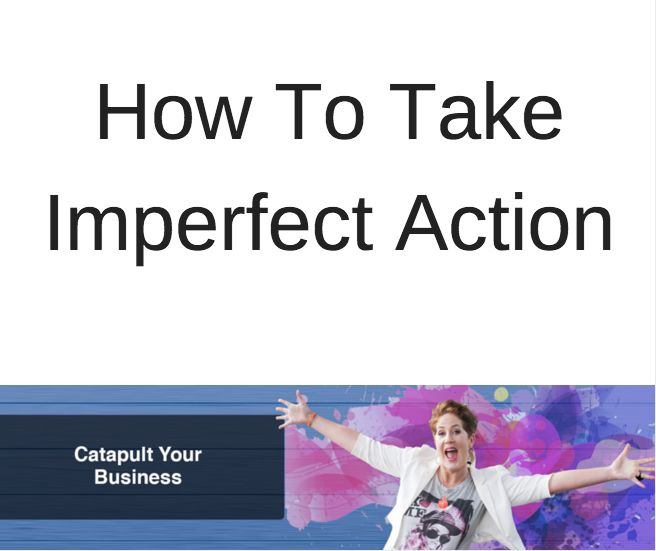 How to take action in your business (& stop crying like a baby!)