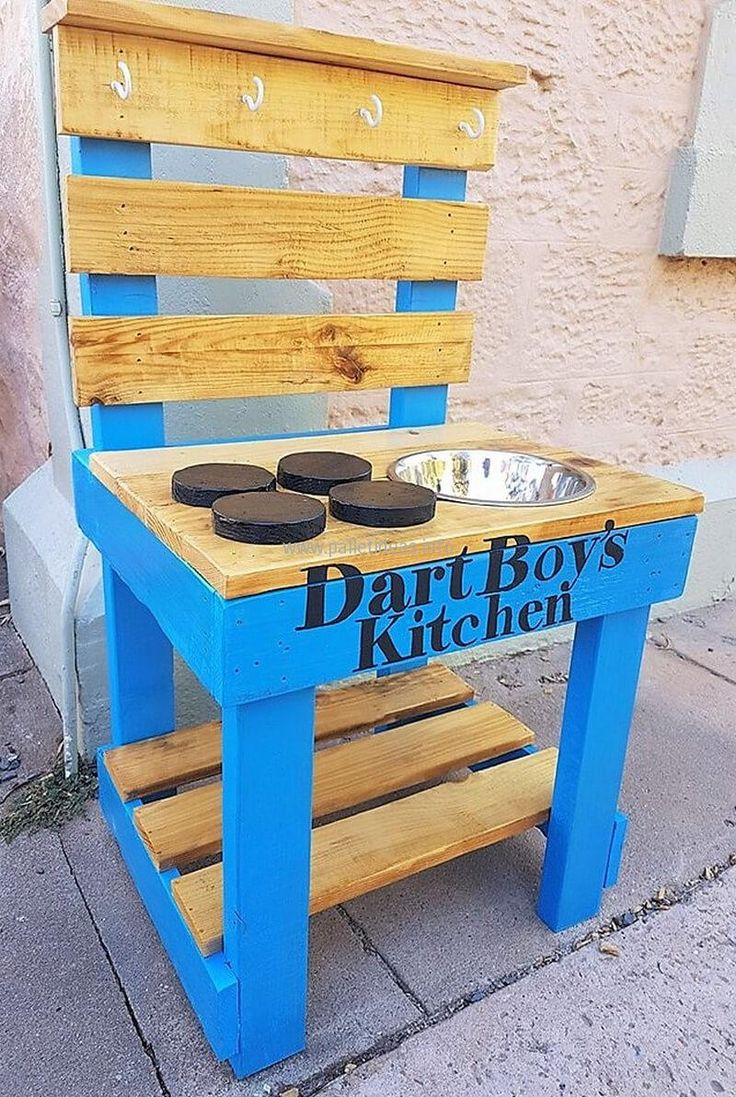 Mud kitchen upcycled pallet mud kitchen pallet kitchen counter with - 50 Easy Diy Ideas Out Of Wooden Pallets