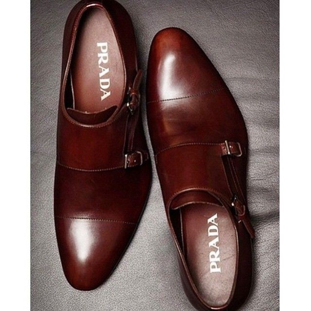 prada - double monk straps o my my those are pretty handsome shoes!