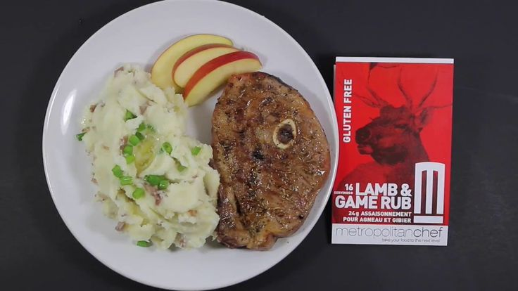 METROPOLITAN CHEF PRESENTS LAMB CHOPS WITH OUR LAMB AND GAME RUB!
