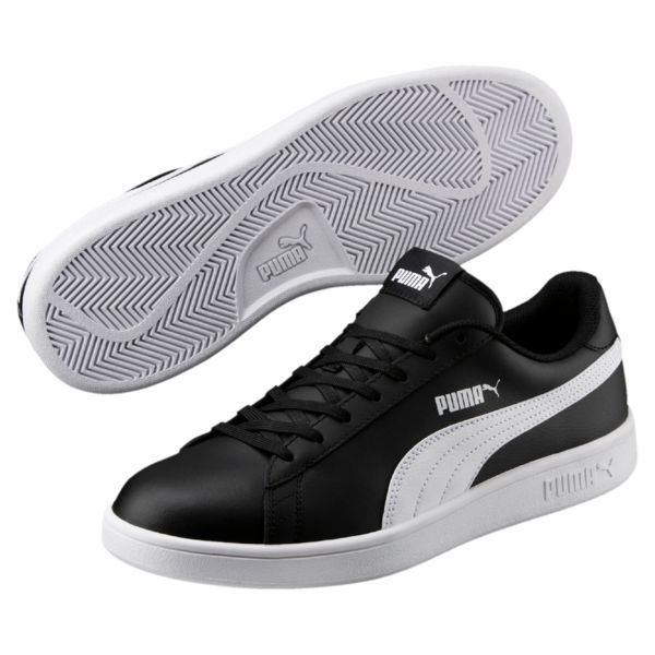 Obuwie Sportowe Smash V2 Leather Puma Black Puma White Dzien Ojca Puma Puma Poland Puma Sneakers Men Sneakers Men Puma Sneakers