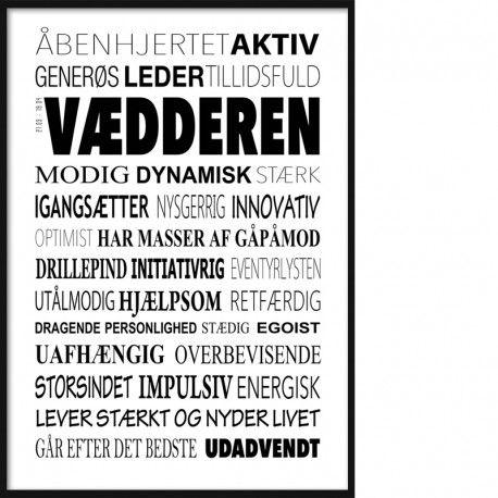 Vaedderen Plakat Tekstcollage Med Stikord I 2020 Livsbekraeftende Citater Sjove Citater Inspirerende Citater