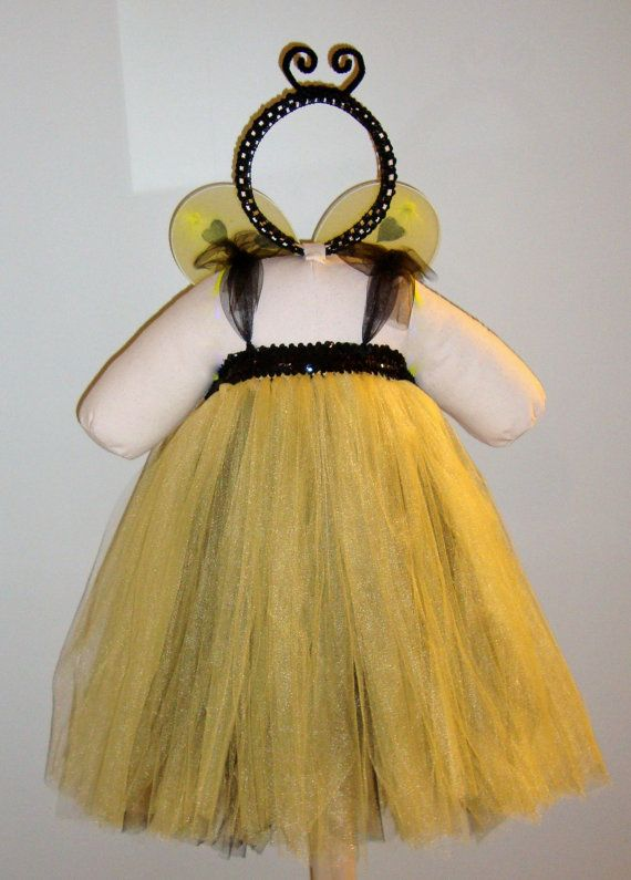 Bumblebee Halloween Tutu Costume by TinyToesNTutus on Etsy, $43.00