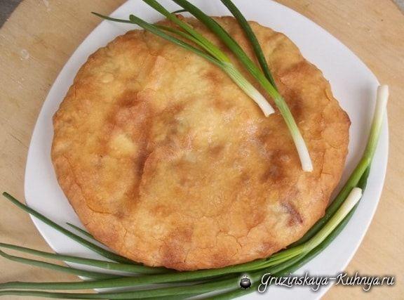 Сванские хачапури с зеленым луком (9)