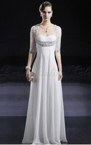 A-line Floor-length Sweetheart White Dress