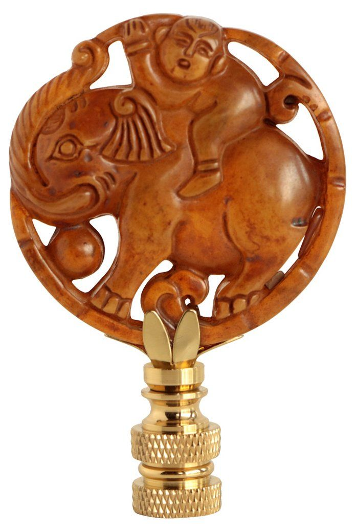 Lucky Elephant Lamp Finial Finials Lighting Accessories Lighting One Kings Lane Lamp Finial Lucky Elephant Lamp Lamp Finial Lamp