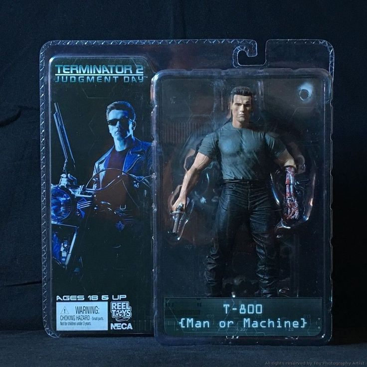 "The Terminator 2 T2 T-800 Man or Machine 7"" Action Figure T800 Endoskeleton #NECA"