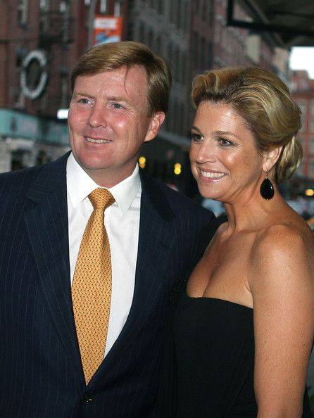 Princess Maxima of the Netherlands and Willem-Alexander, Crown Prince of Orange, smile as they are spotted en route to dinner. (September 2009/Bauer Griffin)