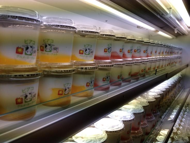 Piako Gourmet Yoghurt sample product line up at Foodex 2012 in Japan. Over 20,000 tasting samples gone over 4 days!