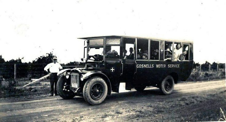 Gosnells Bus Service at Maddington,Western Australia in 1927.