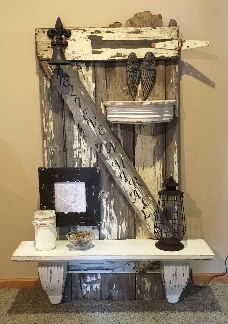 Created from old barn wood