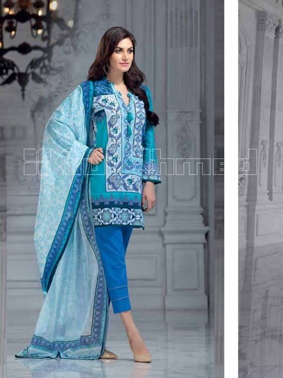 e51ed656c5 Gul Ahmed Pre Fall Cambric Collections 2018 (CBN 65A) - Umar Poshak Mehal