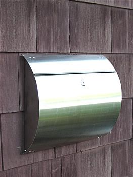 Helix   Spira Stainless Steel Unique Wall Mount Mailbox   Residential Mailbox