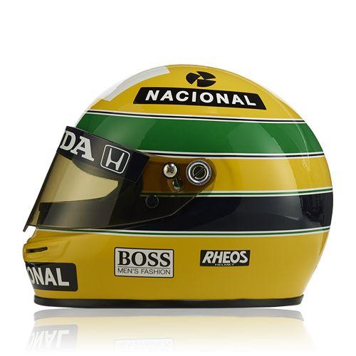 """""""Vodafone McLaren Mercedes"""" Senna Helmet 1991 (1:2) at McLaren Store"""