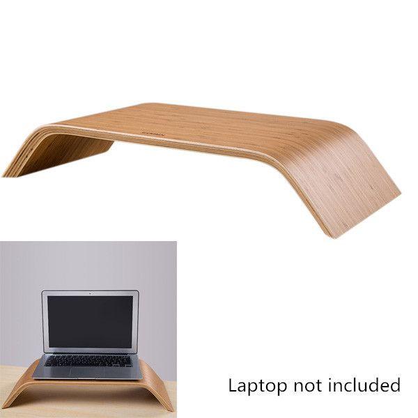 Universal Desktop Computer Bamboo Laptop Stand Dock Holder Bracket for iMac PC Notebook Laptop Top Quality