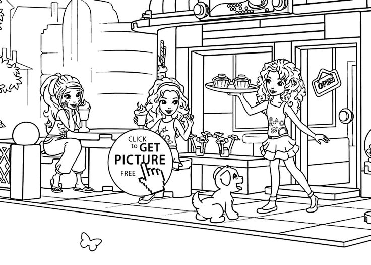 Lego for girls coloring page, printable free. Lego Friends