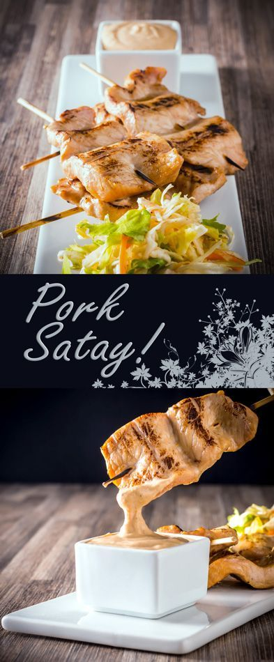 Pork Satay with a Peanut Dipping Sauce Recipe is a wonderfully simple and quick snack that can be prepared in advance with a really versatile sauce.