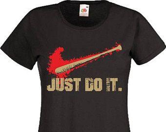 L'ambulante morto T camicia Halloween Baseball Bat fallo Negan Lucille donne Ladies regalo Tee Top