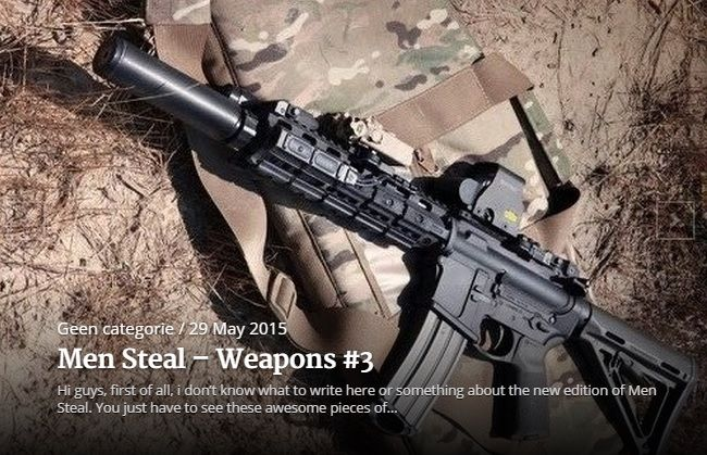 Men Steal, Weapons