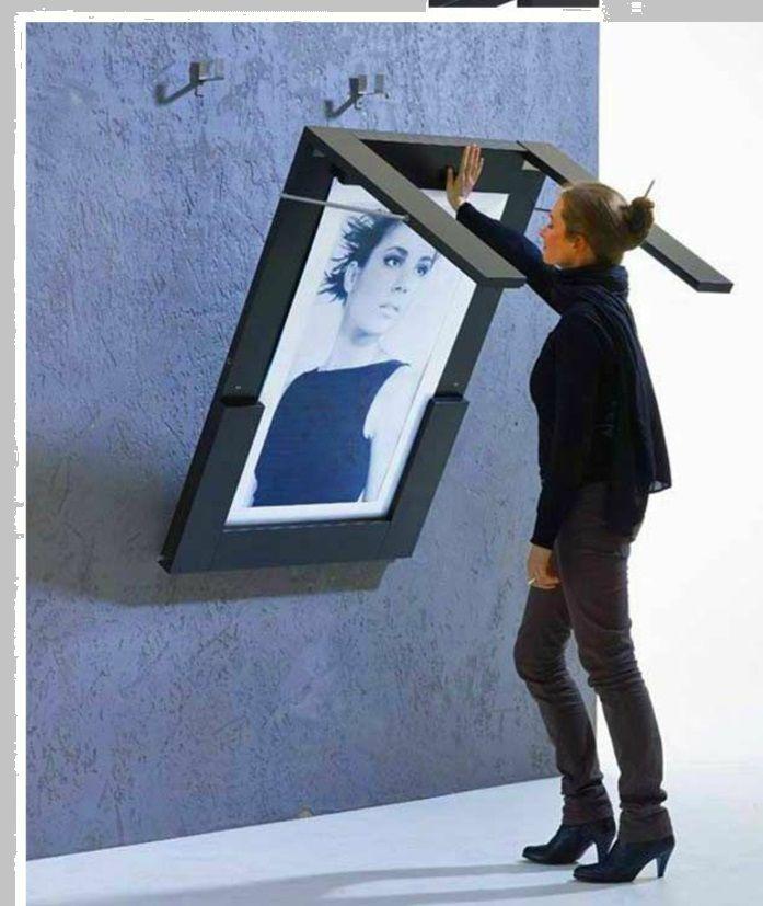 Peinture sur le mur? Oui, mais aussi une table pliante
