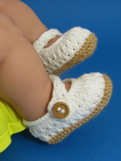 Knitted Baby Sandals Free Patterns Knitting Pinterest Baby