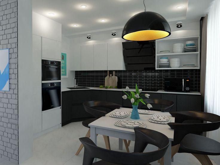 Проект #ЖК_Атлант_трешка_для_парня (58.9) Кухня-гостиная идеально подходит как для отдыха, так и для встреч с гостями, современный стиль с яркими акцентами и грубыми светильниками. Также мы придумали, как сделать рабочее место уютным и незаметным. Спальню заказчик хотел сделать в серых дымчатых тонах. Ванная комната наоборот светлая в теплых деревянных оттенках. Сайт: http://саратов-дизайн.рф Группа: http://vk.com/designsaratov Телефон: 89271332827